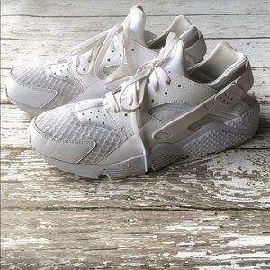 Men's Nike Air Huarache Triple White